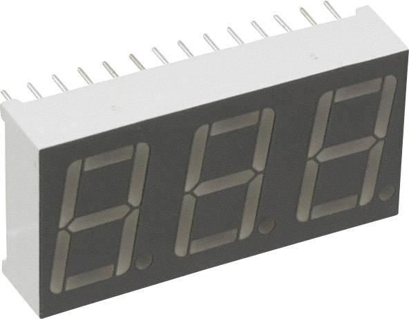 7segmentový displej LUMEX, červená, 14.22 mm, 2.1 V, počet číslic: 3