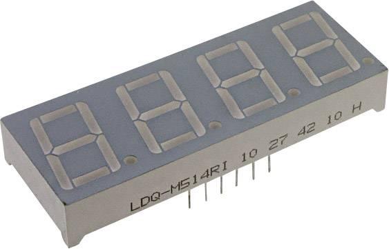 7segmentový displej LUMEX, červená, 7 mm, 2 V, počet číslic: 4