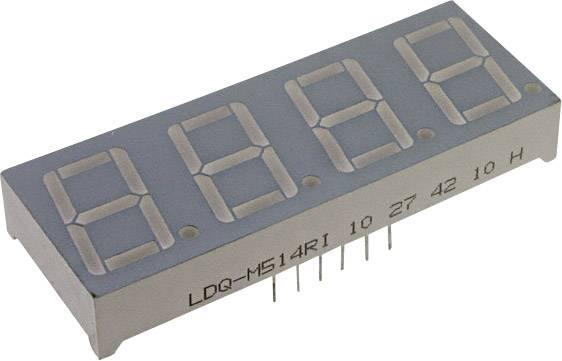 7segmentový displej LUMEX, zelená, 7 mm, 2.2 V, počet číslic: 4