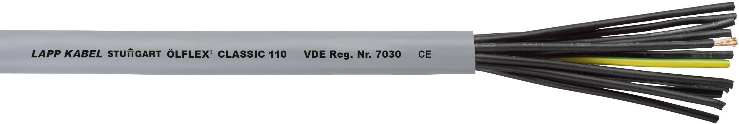 Datový kabel LappKabel Ölflex CLASSIC 110, 6 x 1,0 mm², šedá, 1 m