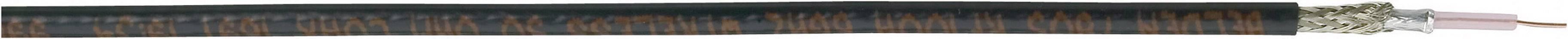 Koaxiálny kábel Belden 7806A, 50 Ohm, metrový tovar, čierna