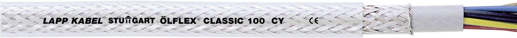 Riadiaci kábel LappKabel ÖLFLEX® CLASSIC 100 CY 0035011, 3 G 2.50 mm², vonkajší Ø 11.80 mm, 750 V, metrový tovar, priehľadná