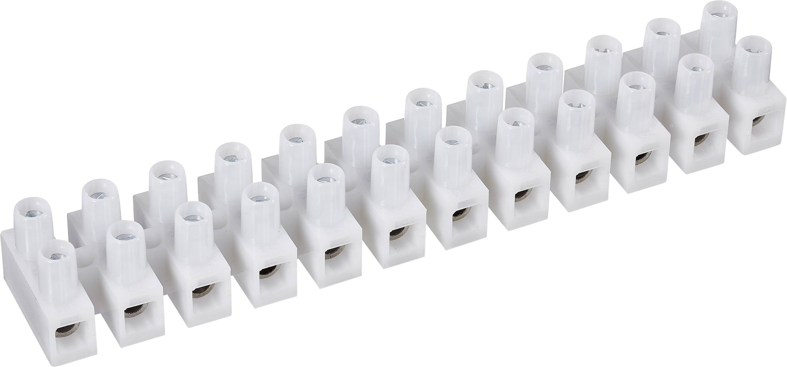 Přístrojová svorkovnice TRU COMPONENTS pro kabel o rozměru 0.5-1.5 mm², pólů 12, 1 ks, bílá