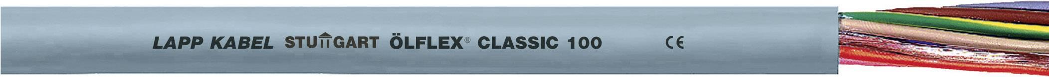 Řídicí kabel LappKabel ÖLFLEX® CLASSIC 100 0010105/100, 3 G 6 mm², vnější Ø 12.60 mm, šedá, 1 m
