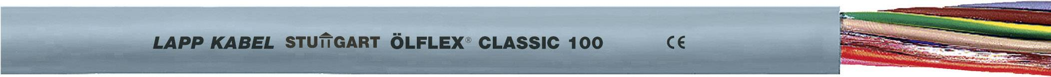Kabel LappKabel Ölflex CLASSIC 100 15G0,75 (0010031), PVC, 10,9 mm, 500 V, šedá, 100 m