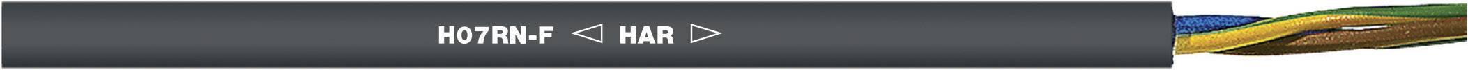 Gumový kabel LappKabel H07RN-F, 4x6 mm², černá