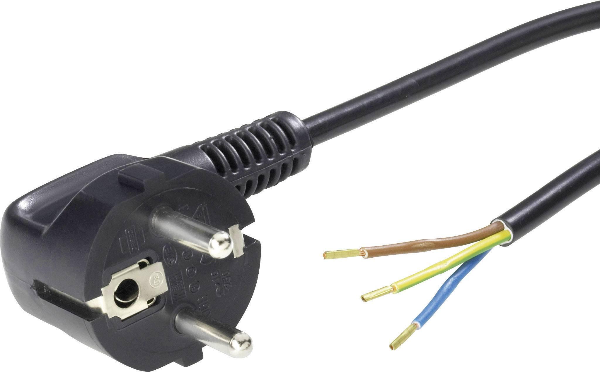 Síťový kabel LappKabel, zástrčka/otevřený konec, 1 mm², 2 m, černá, 70261140