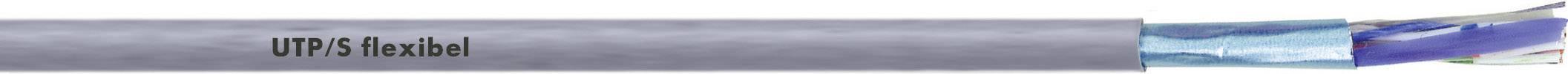 Sieťový kábel ethernetový CAT 5 LappKabel UNITRONIC LAN 200 F/UTP CAT.5ELSZH FLEX, S/UTP, 4 x 2 x 0.13 mm², sivá, 100 m