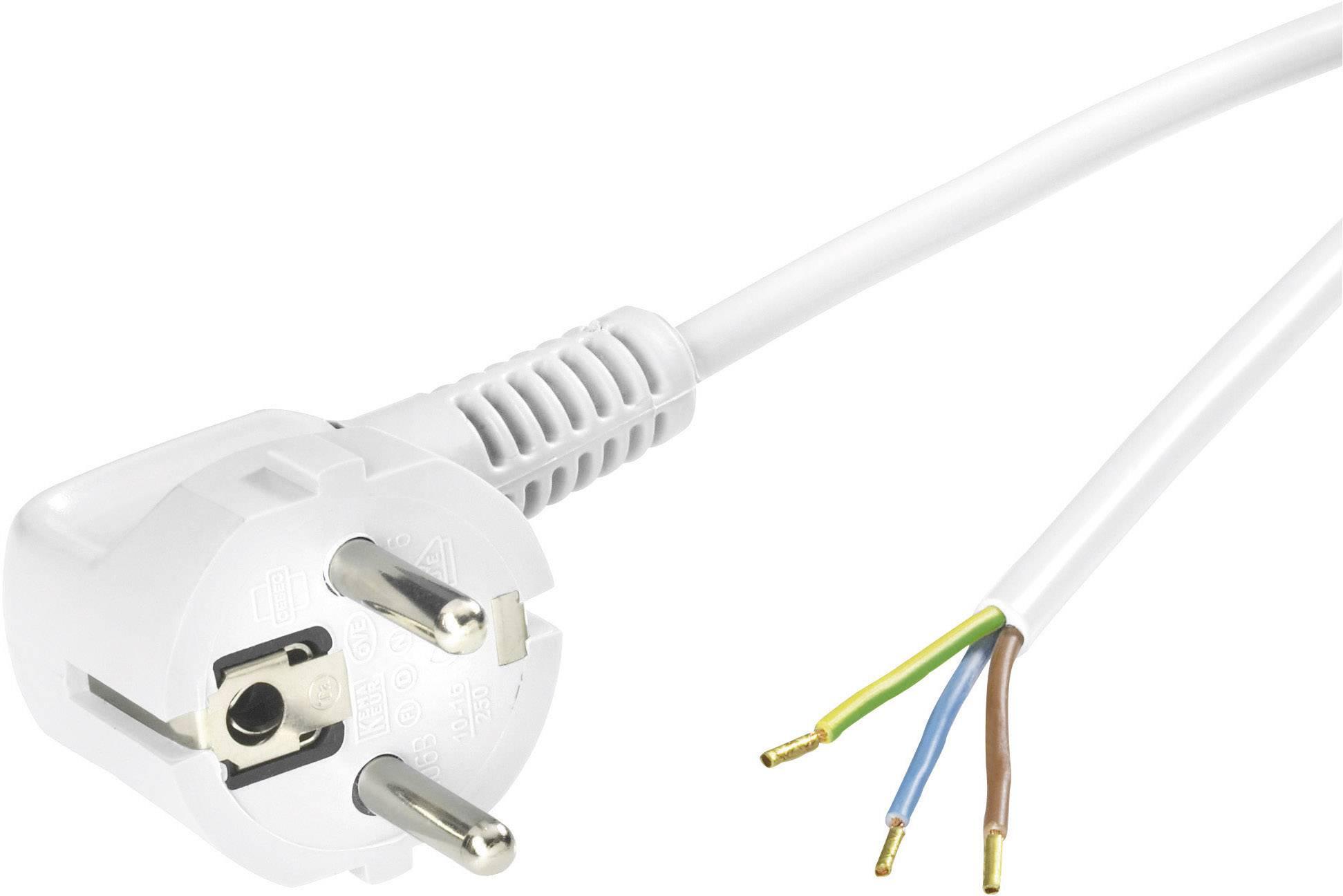Připojovací kabel NETZFLEXR H03VV-F 3G 0,75 bílý