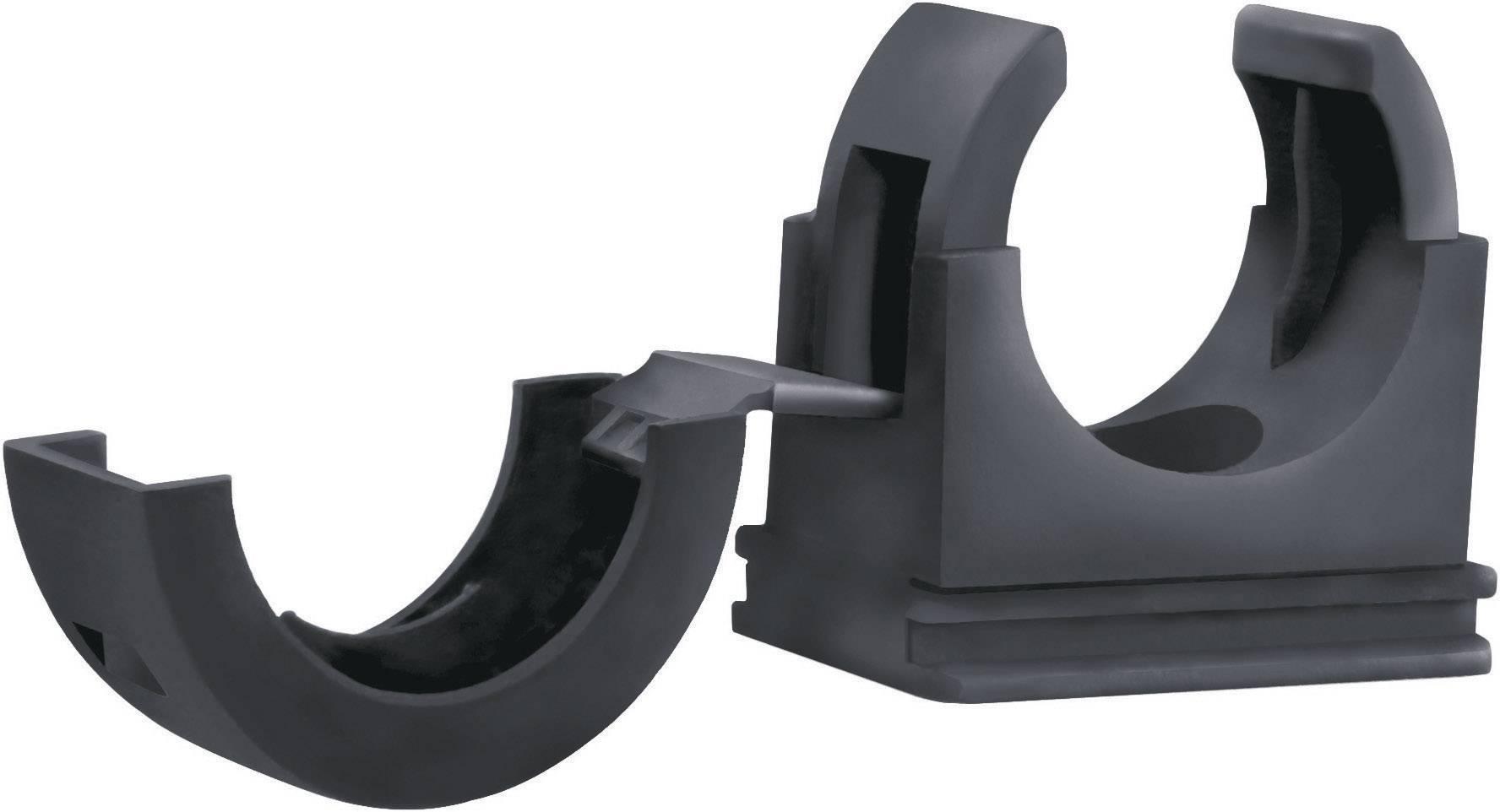 Držák hadice LappKabel SILVYN® FCL 25 BK 55507415, 25 mm, černá, 10 ks