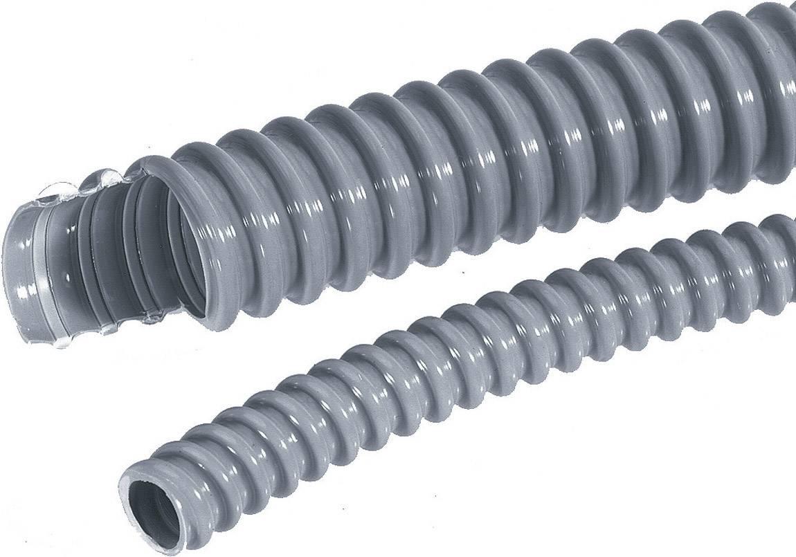 Vlnitá trubka LappKabel SILVYN® EL 10x14,7 SGY 61747360, 10 mm, stříbrnošedá (RAL 7001), 5 m