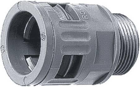 Hadicová spojka rovná LappKabel SILVYN® KLICK-GM 40x1,5 GY 55501080, M40, 35 mm, sivá (RAL 7001), 1 ks