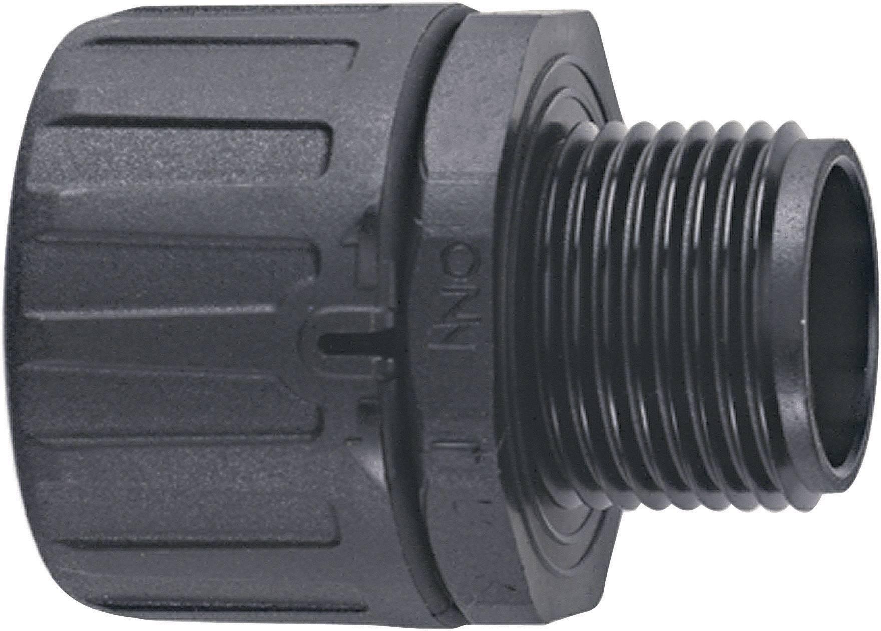 Hadicová spojka rovná LappKabel SILVYN® FPAG-M20x1.5/2 55506345, M20, čierna, 1 ks