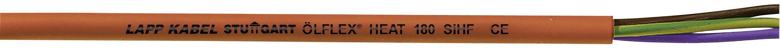 Vysokoteplotný kábel LappKabel ÖLFLEX® HEAT 180 SIHF 0046001, 2 x 0.75 mm², vonkajší Ø 6.40 mm, 500 V, metrový tovar, červená, hnedá