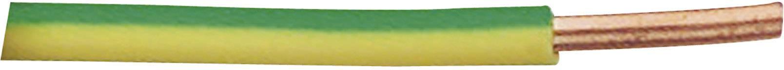 Drátové vedení XBK-Kabel H07V-U, 1x 2,50 mm², PVC, 4 mm², Ø 4,10 mm, 1 m, zelenožlutá