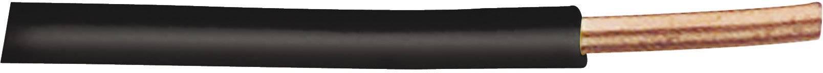 Spojovací drôt XBK Kabel 20401S H07V-U, 1 x 1.50 mm², vonkajší Ø 2.90 mm, metrový tovar, čierna