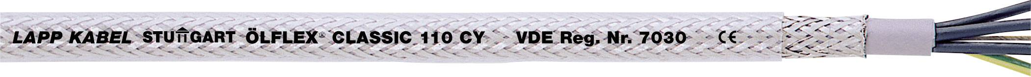 Řídicí kabel LAPP ÖLFLEX® CLASSIC 110 CY 1135403, 3 G 2.50 mm², vnější Ø 10.30 mm, transparentní, metrové zboží