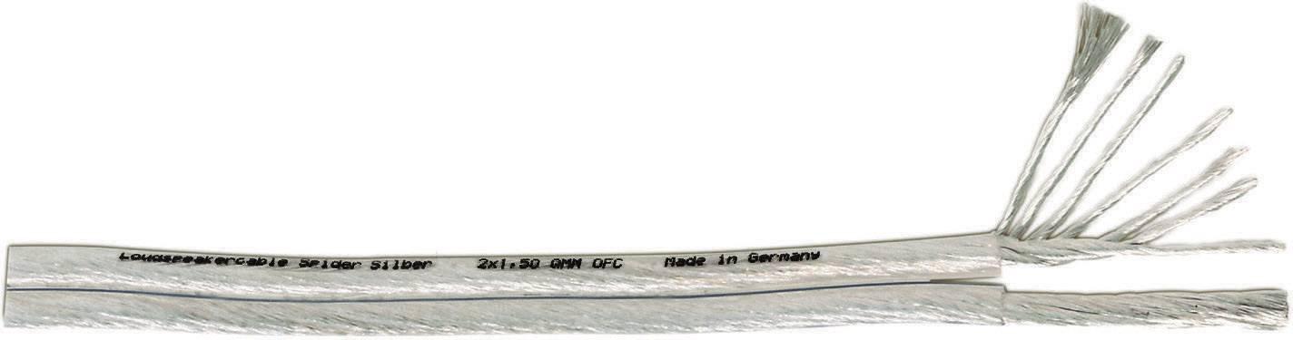 Kabel reproduktoru Spider, 53031, 2 x 2,5 mm², transparentní, 1 m