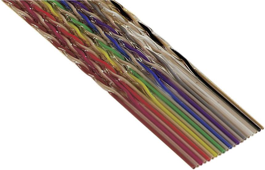 Plochý kabel 3M 7000058341, rozteč 1.27 mm, 20 x 0.08 mm², barevná, metrové zboží
