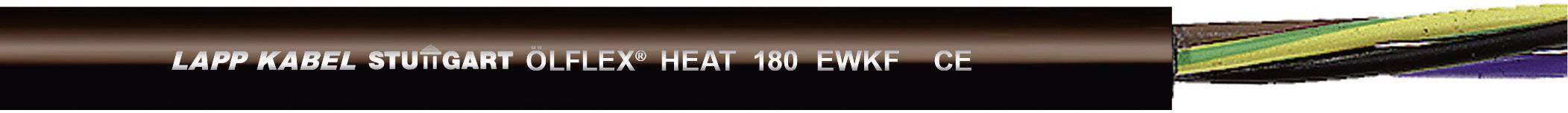 Vysokoteplotný kábel LappKabel ÖLFLEX® HEAT 180 EWKF 0046512, 3 x 1.50 mm², vonkajší Ø 8.50 mm, 500 V, metrový tovar, čierna