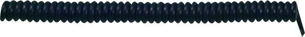 Špirálový kábel 73222342 X05VVH8-F 5 x 0.75 mm², 500 mm / 1500 mm, čierna