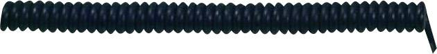 Špirálový kábel 73222345 X05VVH8-F 3 x 1.50 mm², 500 mm / 1500 mm, čierna