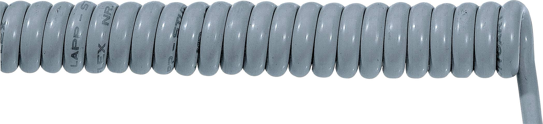Špirálový kábel 70002634 ÖLFLEX® SPIRAL 400 P 4 x 0.75 mm², 500 mm / 1500 mm, sivá