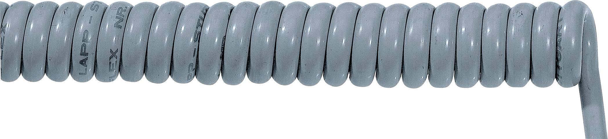 Špirálový kábel 70002707 ÖLFLEX® SPIRAL 400 P 7 x 1.50 mm², 1500 mm / 3750 mm, sivá