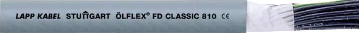 Drát LappKabel ÖLFLEX® -FD CLASSIC 810 (0026103), 5x 0,5 mm², Ø 7,3 mm, nestíněný, 1 m, šedá