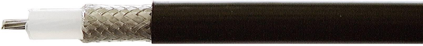 Koaxiálny kábel Huber & Suhner 22510040, 50 Ohm, metrový tovar, čierna