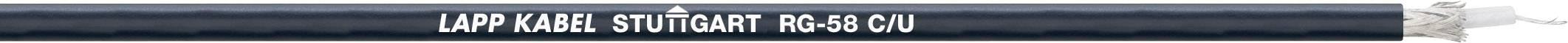 Koaxiální kabel LappKabel RG 58 C/U (2170000), stíněný, černá, 1 m