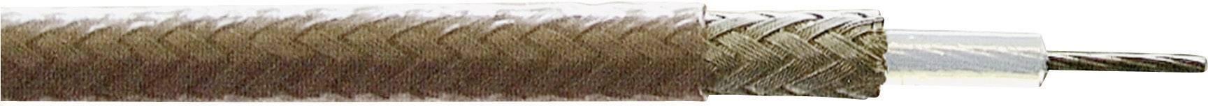 Koaxiálny kábel Huber & Suhner 22510044, 75 Ohm, metrový tovar, hnedá