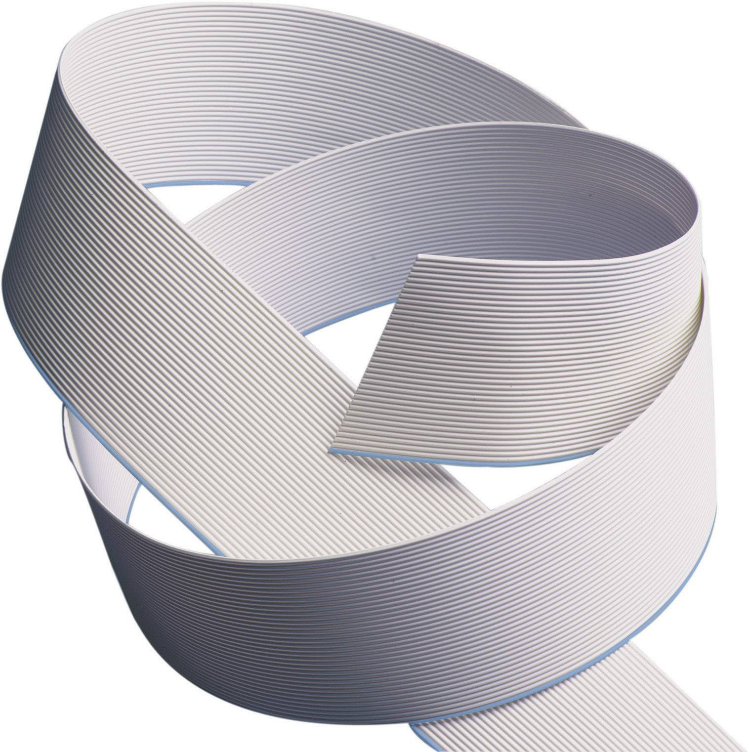 Plochý kábel 3M 7000057354, rozteč 1.27 mm, 10 x 0.08 mm², sivá, metrový tovar