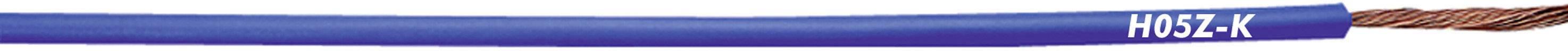 Opletenie / lanko LappKabel 4725022 H05Z-K, 1 x 0.75 mm², vonkajší Ø 2.30 mm, metrový tovar, modrá