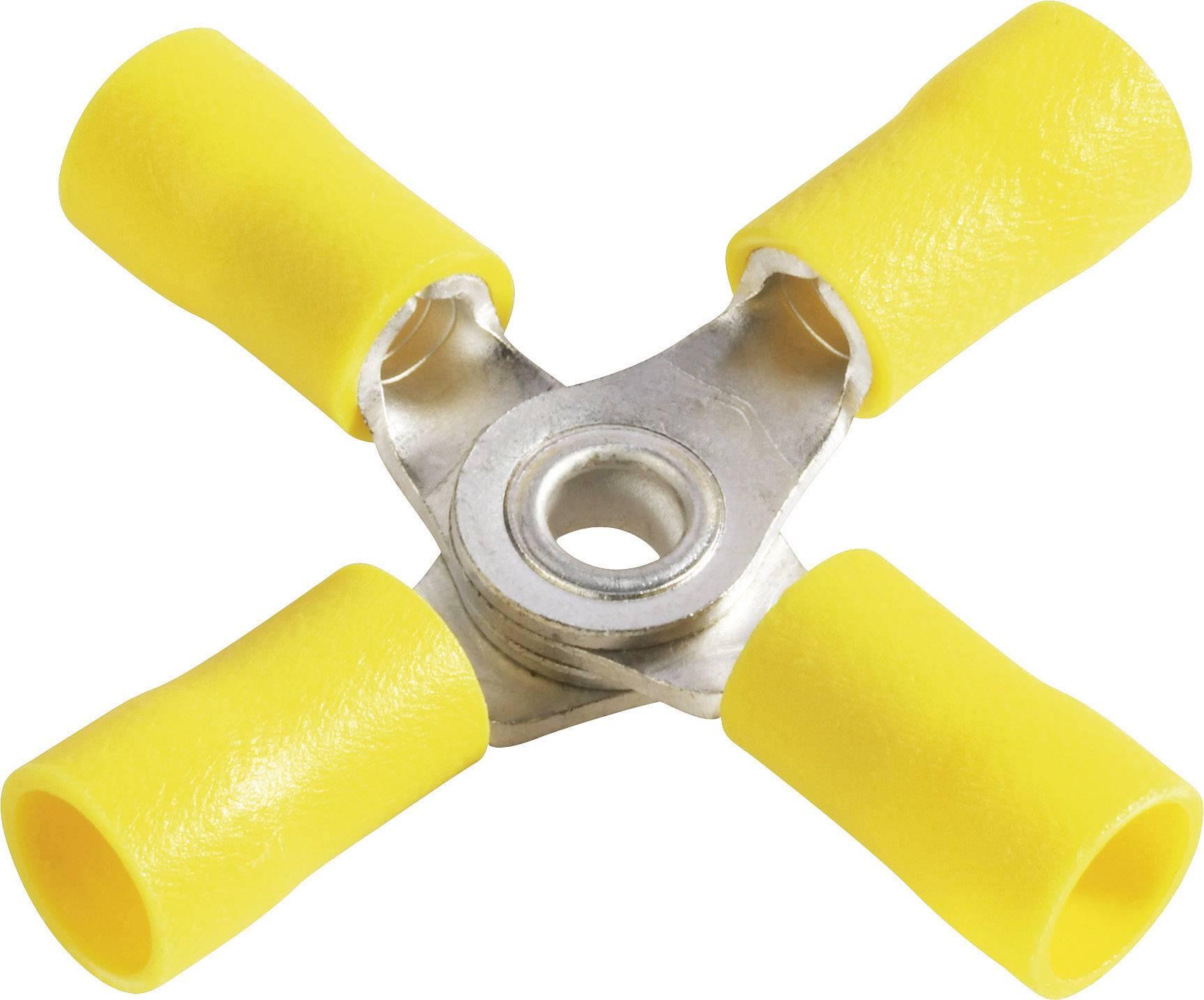 Křížové oko Ø otvoru 4 mm částečná izolace žlutá Vogt Verbindungstechnik 3655a4 1 ks
