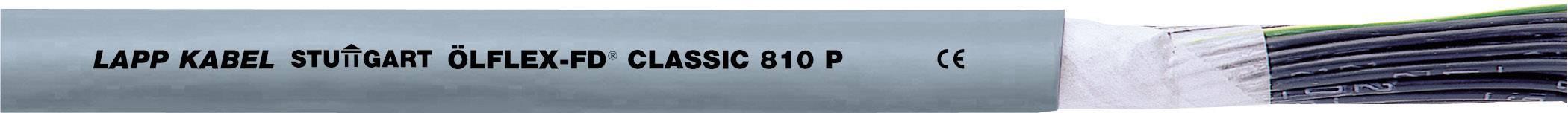 Tažný kabel LappKabel ÖLFLEX® FD CLASSIC 810 P 3G1 (0026331), 3x 1 mm², polyurethan, Ø 7,1 mm, nestíněný, 1 m,