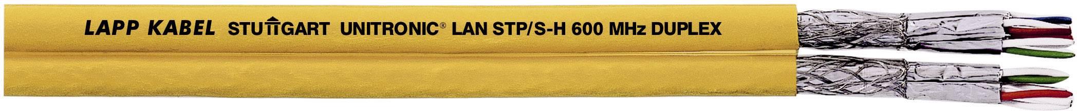 Sieťový kábel ethernetový LappKabel UNITRONIC LAN 1000 S/FTP CAT.7 DUPLEX, S/FTP, 4 x 2 x 0.25 mm², žltá, 100 m
