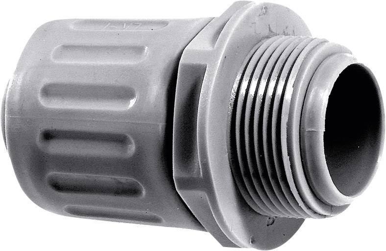 Hadicová spojka rovná LappKabel SILVYN® LKI-M 16x1,5 SGY 55501410, M16, 10 mm, striebrosivá (RAL 7001), 1 ks