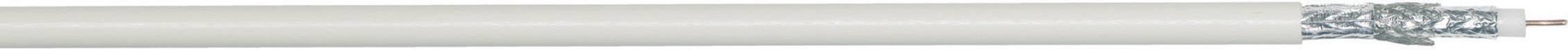 Koaxiální kabel LappKabel SAT 3034034, 80 Ω, stíněný, 1 m, bílá