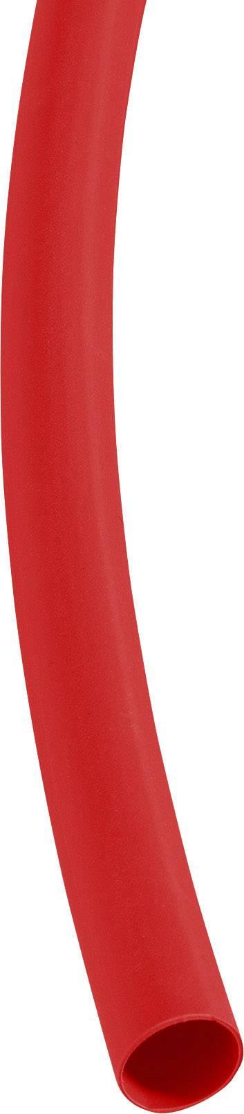 Zmršťovacia bužírka 6/2 mm, červená, 1 m