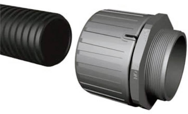 Hadicová spojka rovná HellermannTyton HG10-S-M12 166-21000, M12, 6.30 mm, čierna, 1 ks