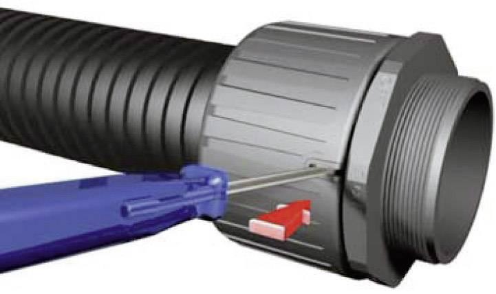 Hadicová spojka HellermannTyton HG16-90-M20 166-22203, M20, 16.70 mm, čierna, 1 ks