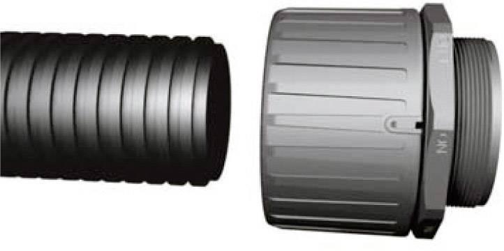 Hadicová spojka rovná HellermannTyton HG13-S-M12 166-21022, M12, 9.80 mm, čierna, 1 ks