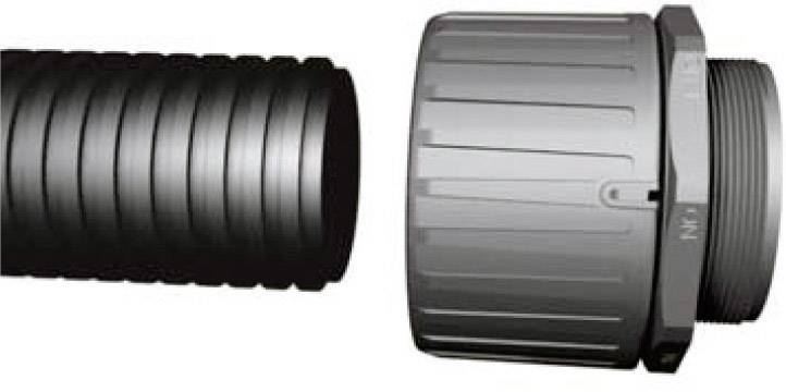 Hadicová spojka rovná HellermannTyton HG42-S-PG36 166-21017, PG36, 35.50 mm, čierna, 1 ks