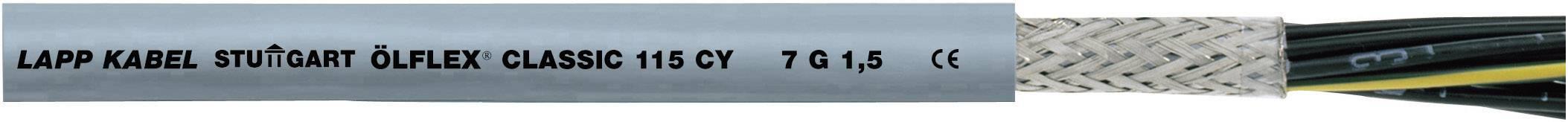 Riadiaci kábel LappKabel ÖLFLEX® CLASSIC 115 CY 1136207, 7 G 1 mm², vonkajší Ø 8.80 mm, 500 V, metrový tovar, sivá