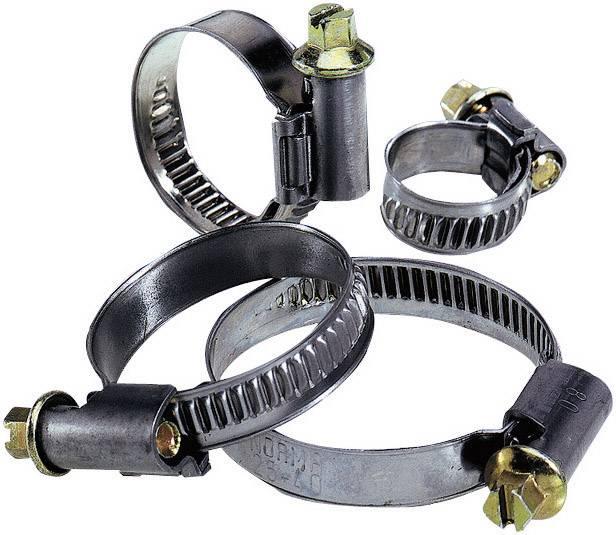 Hadicové spony LappKabel SILVYN® SCH 12 - 20 S 52003140, 16 mm (max), stříbrná, mosaz, 1 ks