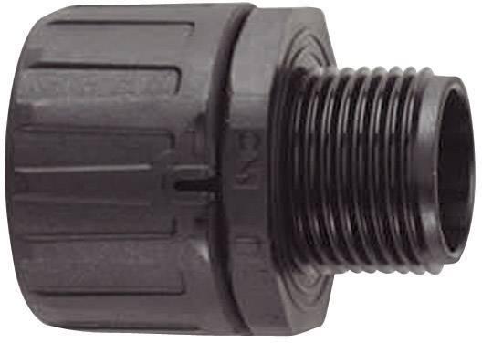 Hadicová spojka rovná HellermannTyton HG13-S-PG9 166-21011, PG9, 9.80 mm, čierna, 1 ks