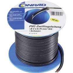Žilové vedení CCA (SH1998C504), 2x 0,75 mm², PVC, 20 m, hnědá