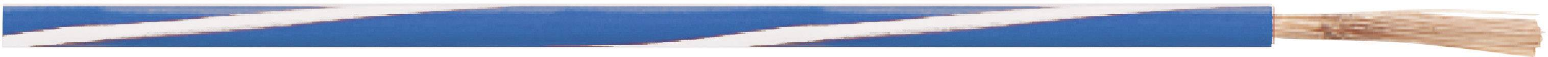 Opletenie / lanko LappKabel 4512451S X05V-K, 1 x 0.50 mm², vonkajší Ø 2.10 mm, metrový tovar, biela, hnedá