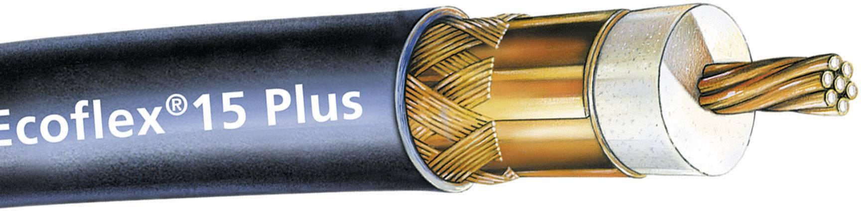 Koaxiální kabel SSB Ecoflex 15 Plus (6043), 50 Ω, stíněný, černá, 1 m